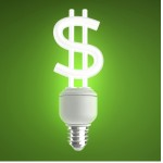 Energy-efficiency money sign