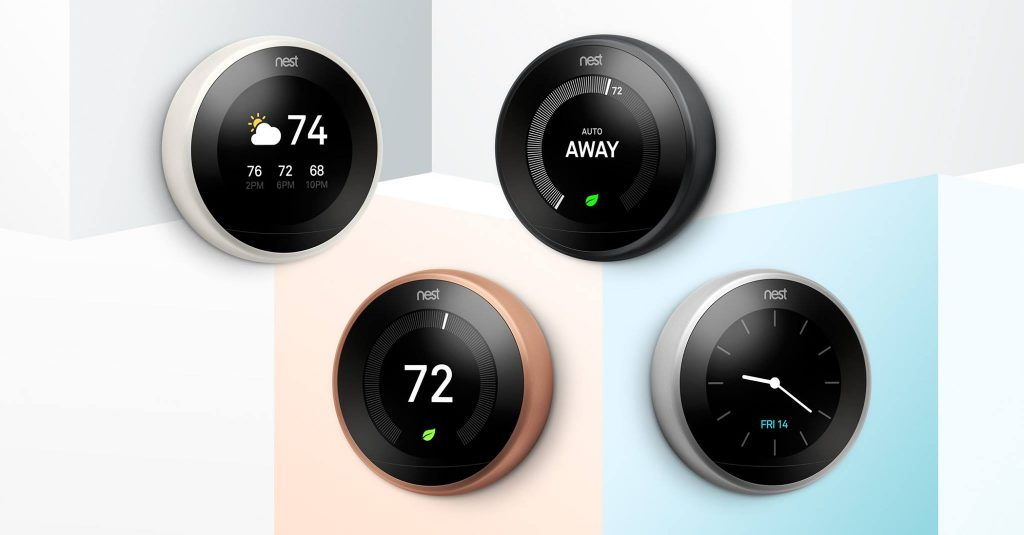 Nest thermostats picture